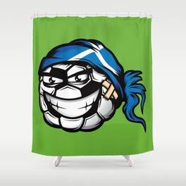 Football - Scotland Shower Curtain