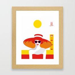 Stylish Journey - Spain Framed Art Print
