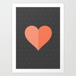Hearts: Two Art Print