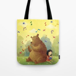 Friend Bear Tote Bag