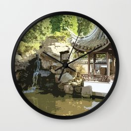 Japanese Tea Garden Wall Clock