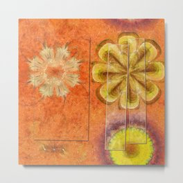 Dorsel Trance Flower  ID:16165-115815-42891 Metal Print