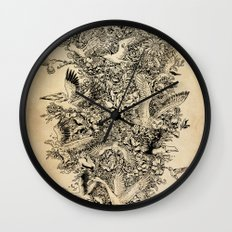 Blooming Flight Wall Clock