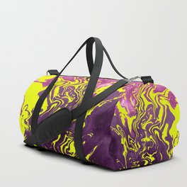 Yellow, Purple and Pink Intertwine; Fluid Abstract 50 Duffle Bag