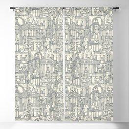 Ancient Greece indigo pearl Blackout Curtain