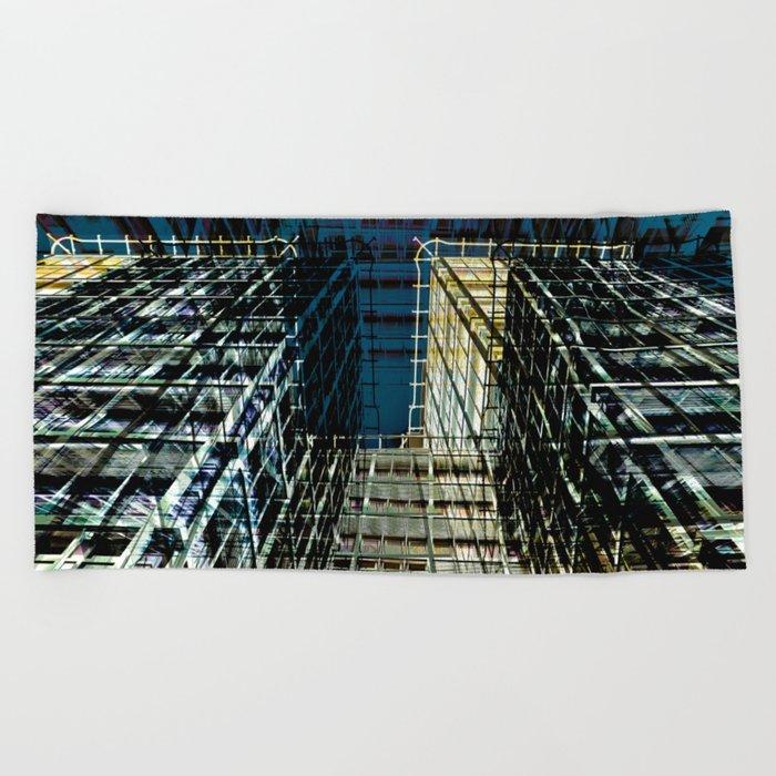 Urban Berlin Facade Beach Towel