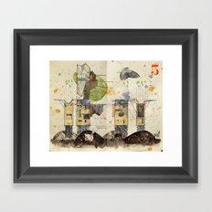 Domicile 03_New Year Moon Framed Art Print