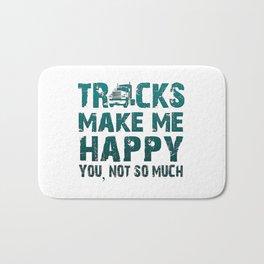 Trucks make me happy Bath Mat