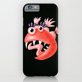 Funny Monster Crazy Silly Creature With Ponytails iPhone Case