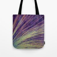 fireworks Tote Bags featuring Fireworks by Françoise Reina