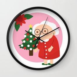 Christmas Granny Wall Clock