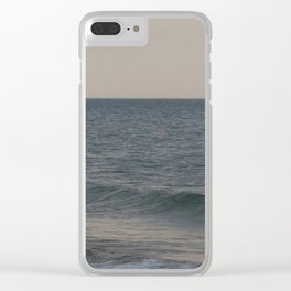 Breakers // Lake Michigan Waves Photography Clear iPhone Case