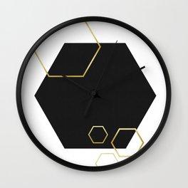 Hexagons fashion II Wall Clock