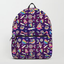 1997 Neon Rainbow Occult Sticker Collection Backpack