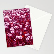 dandelions field Stationery Cards