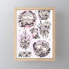 Feminist Flash Sheet Framed Mini Art Print