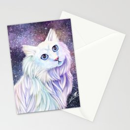 Meows from Space Stationery Cards