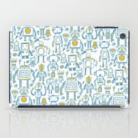 robots iPad Cases featuring Robots by Peter Clayton