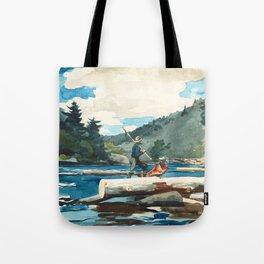 Logging on the Hudson River Tote Bag