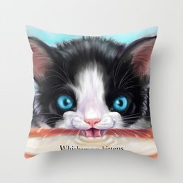 Whiskers on Kittens Throw Pillow