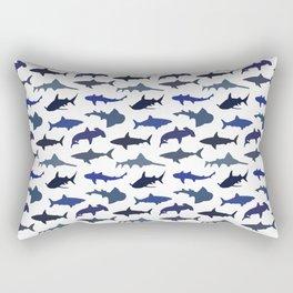 Blue Sharks Rectangular Pillow