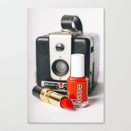 Class Comes in Red Canvas Print