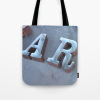 lettering Tote Bags featuring Lettering by Jenna Allensworth