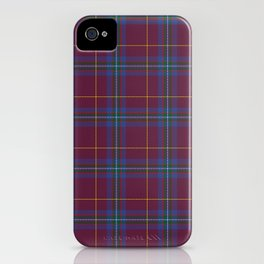 Da Vinci Rosslyn Rose Tartan iPhone Case