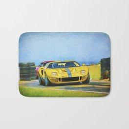 Yellow Ford GT40 Bath Mat