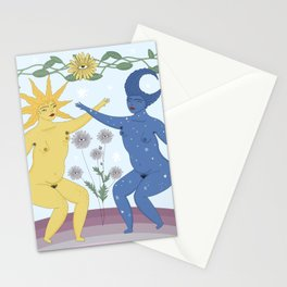 Sun & Moon Hairstyle  Stationery Cards