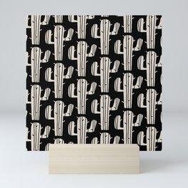 Mid Century Modern Desert Cactus Pattern 861 Mini Art Print