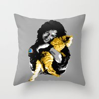 ripley Throw Pillows featuring Officer Ripley by mirodeniro