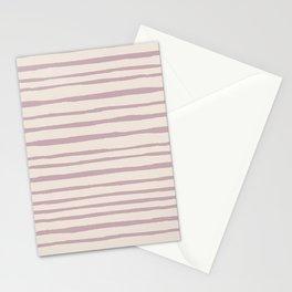 Modern ivory lavender blush geometrical watercolor stripes Stationery Cards