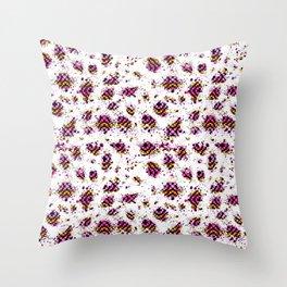 Geometric Grungy Pattern Throw Pillow
