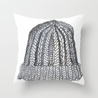 hat Throw Pillows featuring Hat by Megan Leppla