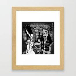 BRIDE OF FRANKENSTEIN TRIBUTE Framed Art Print