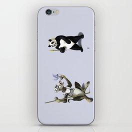 Donkey Xote and Sancho Panda (Colour) iPhone Skin