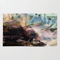 novelty Area & Throw Rugs featuring Morning Seashore Abstract by Moody Muse