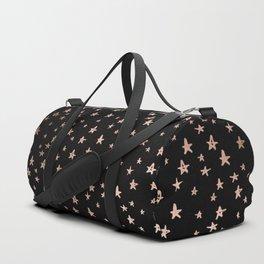 Black & Rose Gold Star Pattern Duffle Bag