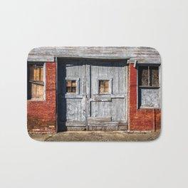 In the Door Series, wooden weather beaten textured doors Bath Mat