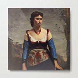"Jean-Baptiste-Camille Corot ""Agostina"" Metal Print"