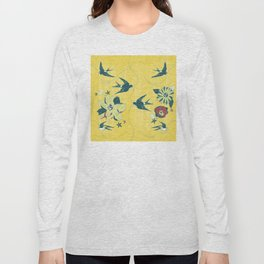 swallows and flowers Long Sleeve T-shirt