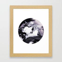 titanium white / carbon black / silver Framed Art Print