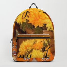""" Twelve Faces Of Fall "" Backpack"