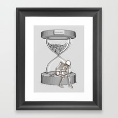 Please wait Framed Art Print