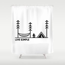 Live Simple Shower Curtain