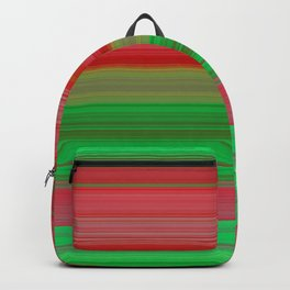 red and green horizontal lines Backpack