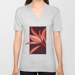 Abstract Leaves Unisex V-Neck