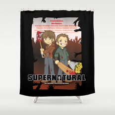 Supernatural - Goin to the Winchesters Shower Curtain