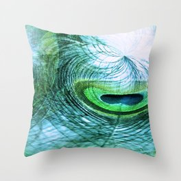 Feather Abstract Throw Pillow